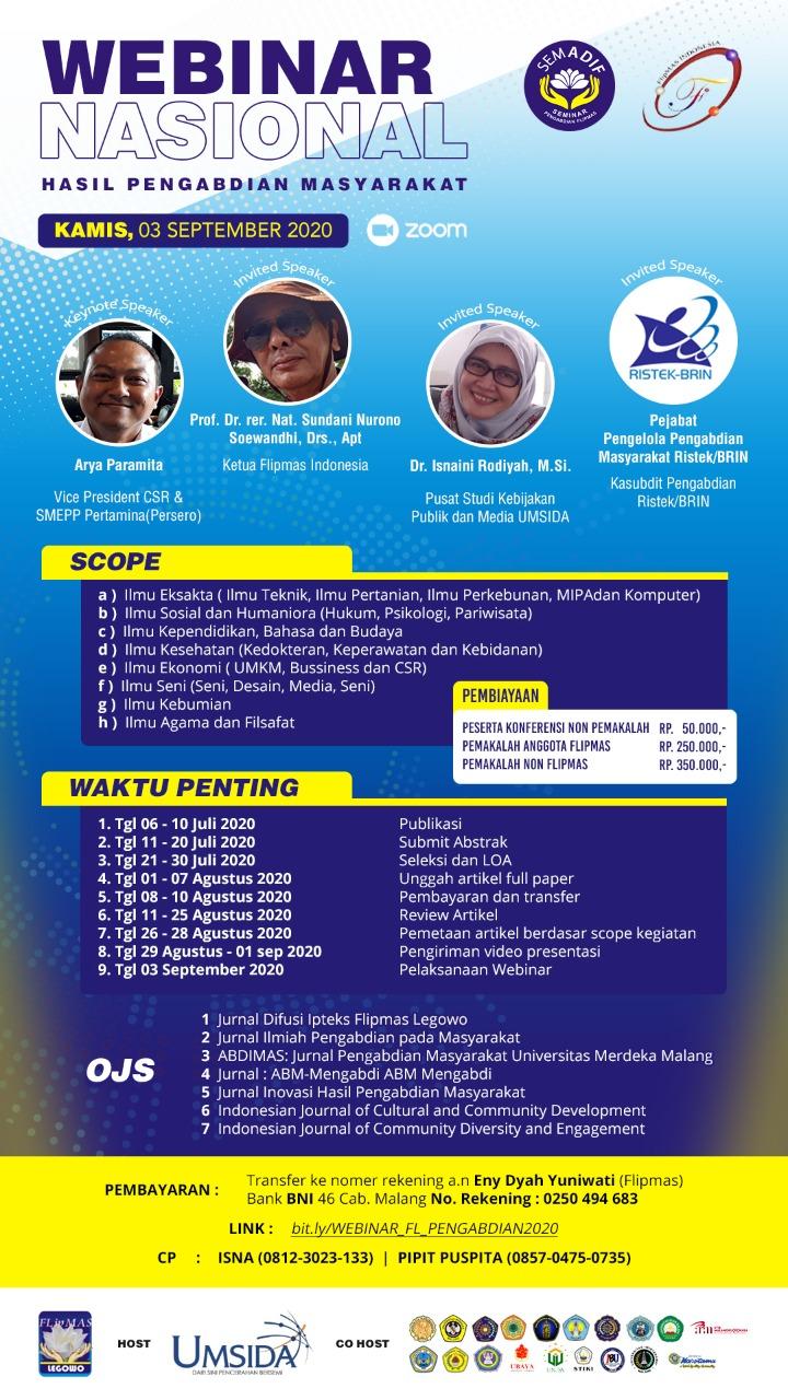 Seminar Hasil Pengabdian Kepada Masyarakat Online