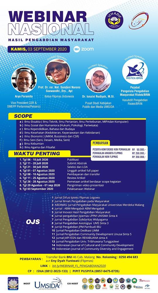 Seminar Nasional Hasil Pengabdian Masyarakat SEMADIF Flipmas Indonesia